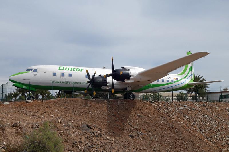 """EC-BBT Douglas DC-7C El Berriel/GCLB 02-02-16 """"Binter"""""""
