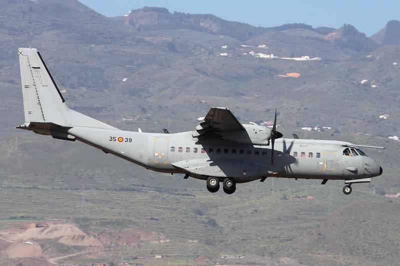 """T.21-01 (35-39) CASA 295M """"Spanish Air Force"""" c/n S-002 Las Palmas/GCLP/LPA 05-02-16"""