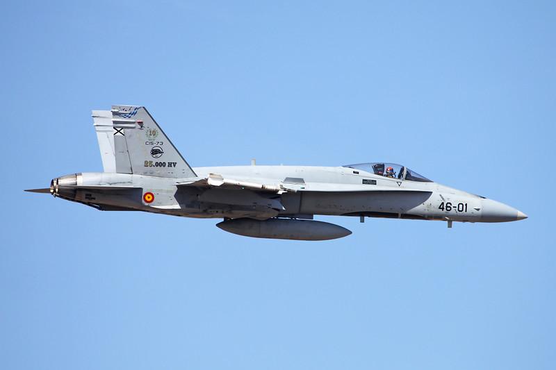 "C.15-73 (46-01) McDonnell-Douglas EF-18AM Hornet ""Spanish Air Force"" c/n A-106 Las Palmas/GCLP/LPA 05-02-16 ""25,000 HV"""