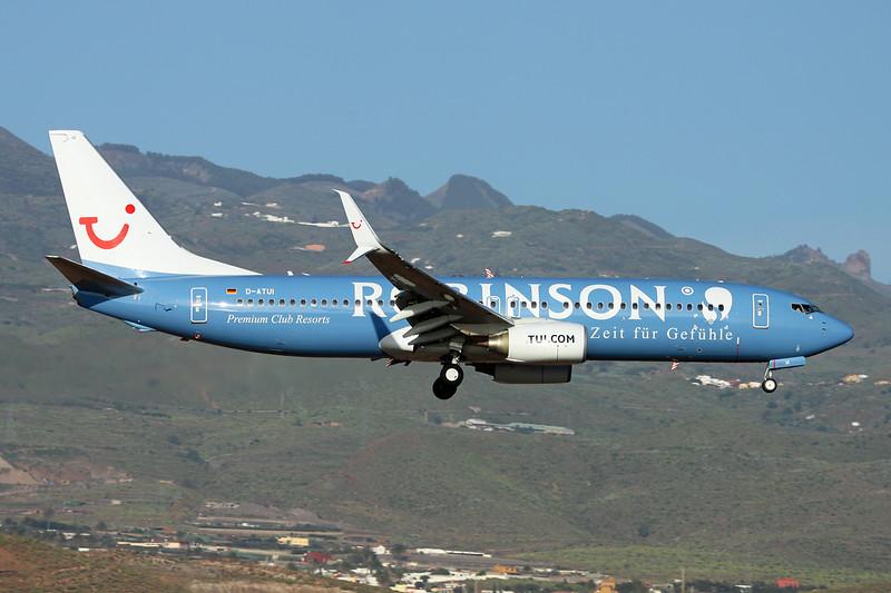 """D-ATUI Boeing 737-8K5 c/n 37252 Las Palmas/GCLP/LPA 05-02-16 """"Robinson - Zeit für Gefühle"""""""