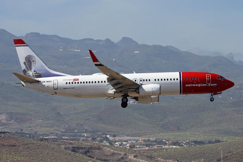 """LN-NGC Boeing 737-8JP c/n 39016 Las Palmas/GCLP/LPA 03-02-16 """"Jens Glad Balchen"""""""