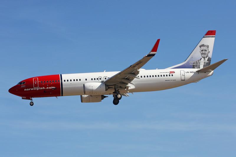 """LN-NGT Boeing 737-8JP c/n 41125 Las Palmas/GCLP/LPA 03-02-16 """"Anton K. H. Jakobsen"""""""