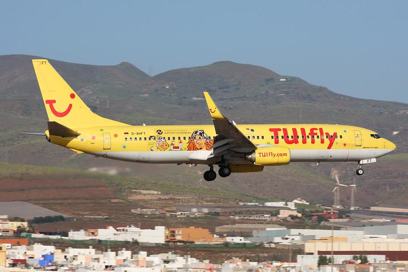 "D-AHFT Boeing 737-8K5 c/n 30413 Las Palmas/GCLP/LPA 05-02-16 ""Albrecht Durer Airport Nurnberg"""