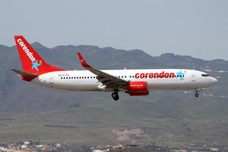 "PH-CDE Boeing 737-86Q ""Corendon Dutch Airlines"" c/n 35795 Las Palmas/GCLP/LPA 04-02-16"