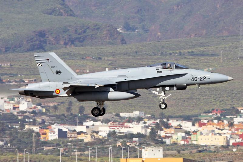 "C.15-94 (46-22) McDonnell-Douglas F/A-18A Hornet ""Spanish Air Force"" c/n A-132 Las Palmas/GCLP/LPA 05-02-16"
