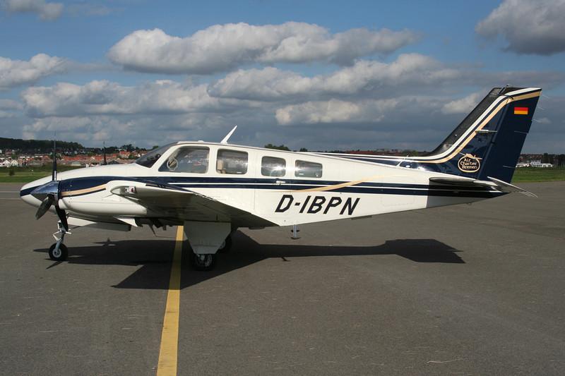 D-IBPN Beech 58P Baron c/n TJ-424 Le Touquet/LFAT/LTQ 09-09-07