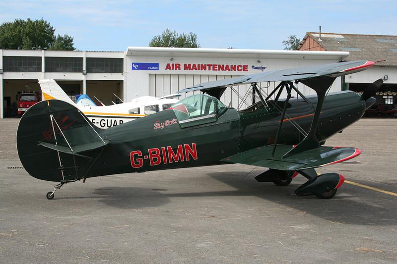 G-BIMN Steen Skybolt c/n PFA 064-10329 Le Touquet/LFAT/LTQ 09-09-07