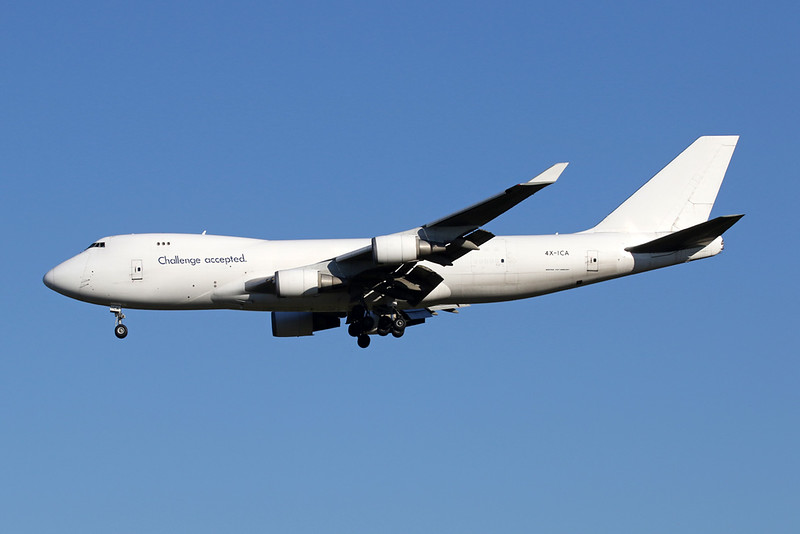 """4X-ICA Boeing 747-4EVERF """"CAL-Cargo Airlines"""" c/n 35172 Liege/EBLG/LGG 30-07-20 """"Challenge Accepted"""""""