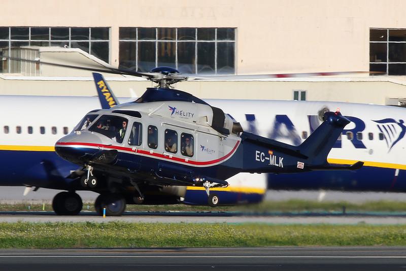 EC-MLK AgustaWestwind AW139 c/n 31062 Malaga/LEMG/AGP 26-01-20