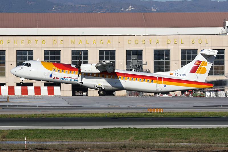 "EC-LQV Aerospatiale ATR-72-600 ""Air Nostrum"" c/n 995 Malaga/LEMG/AGP 26-01-20"