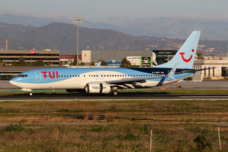 G-TAWG Boeing 737-8K5 c/n 37266 Malaga/LEMG/AGP 26-01-20