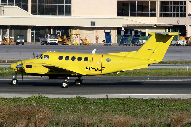 EC-JJP Beech 200 Super King Air c/n BB-845 Malaga/LEMG/AGP 26-01-20