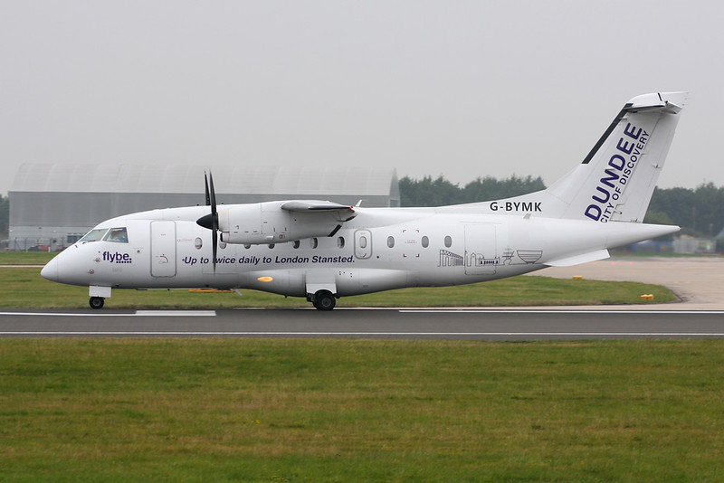 "G-BYMK Dornier Do.328-110 c/n 3062 Manchester/EGCC/MAN 12-09-14 ""Dundee-City of Discovery"""