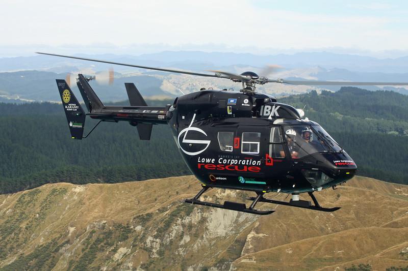 ZK-IBK MBB/Kawasaki BK-117B-2 c/n 1053 Wairoa 04-02-15