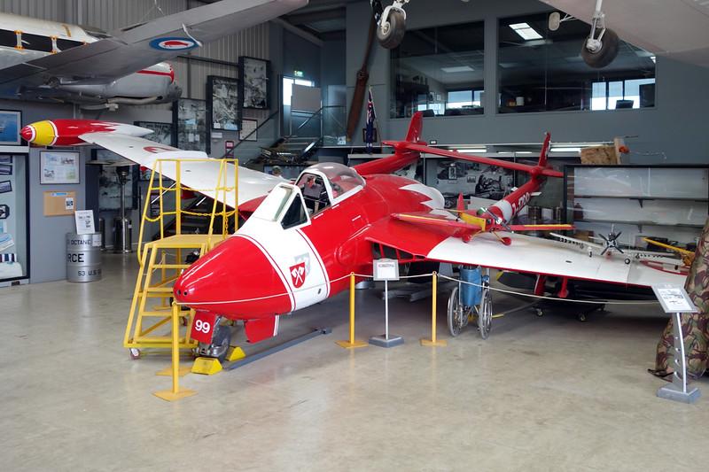 ZK-VNM (J-1799) de Havilland DH-112 Venom FB.54 c/n 969 Tauranga/NZTG/TRG 27-01-15