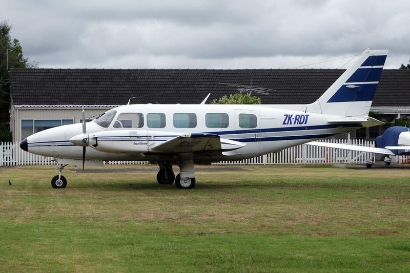 ZK-RDT Embraer Emb-820C Navajo c/n 820127 Ardmore/NZAR/AMZ 01-02-15