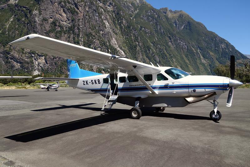 ZK-SKB Cessna 208 Caravan c/n 208-00244 Milford Sound/NZMF/MFN 10-02-15