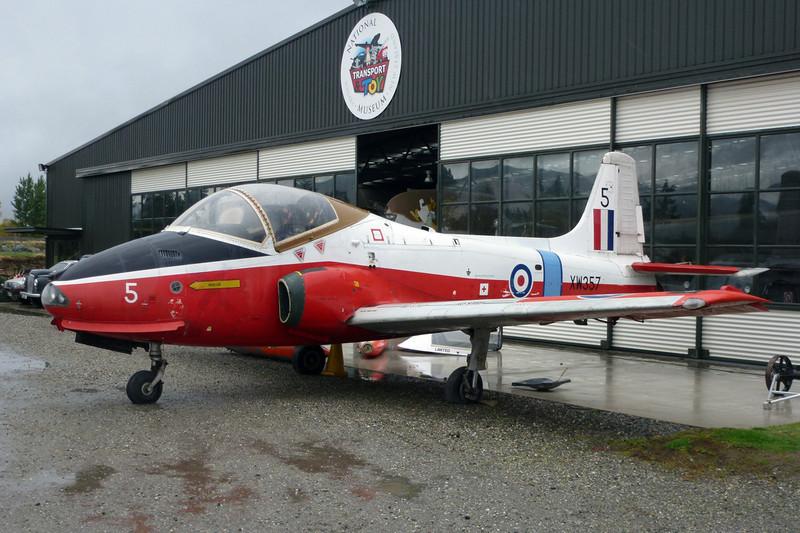 "VH-YZD (XW357/5) BAC Jet Provost T.5A ""Royal Air Force"" c/n EEP/JP/1007 Wanaka/NZWF/WKA 24-03-12"