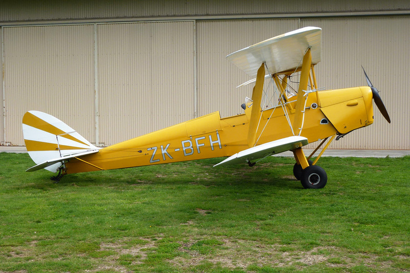 ZK-BFH de Havilland DH-82A Tiger Moth c/n 83343 Mandeville/NZVL 22-03-12