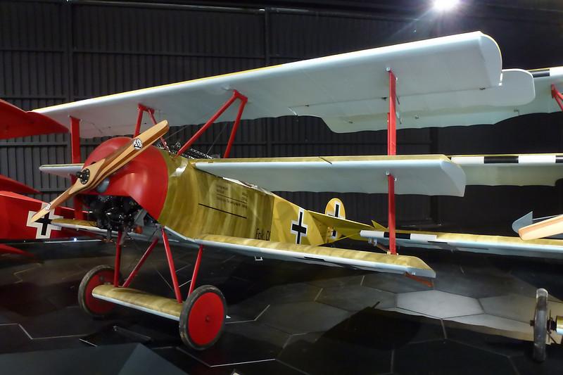 ZK-JOB (454/17) Fokker Dr.1 Replica c/n 1 Blenheim-Omaka/NZOM 25-03-12