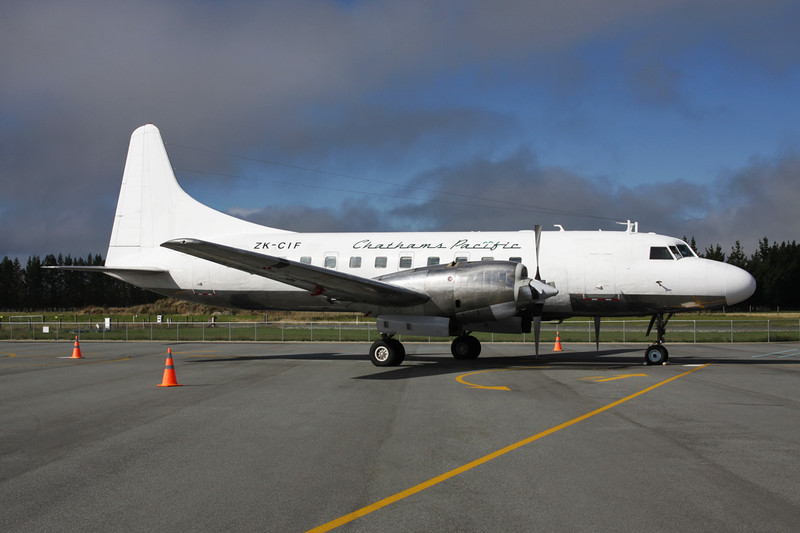 "ZK-CIF Convair 580 ""Air Chathams"" c/n 381 Te Anau/NZTZ/TEU 20-03-12"