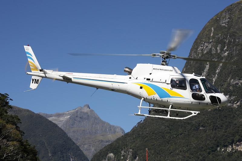ZK-HYM Eurocopter AS.350B2 Ecureuil c/n 3287 Milford Sound/NZMF/MFN 20-03-12