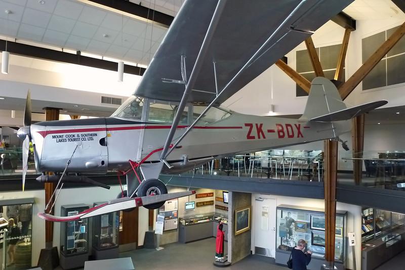 ZK-BDX Auster J/1B Aiglet c/n 3122 Mount Cook Hermitage Hotel-Edmund Hillary Centre 27-03-12
