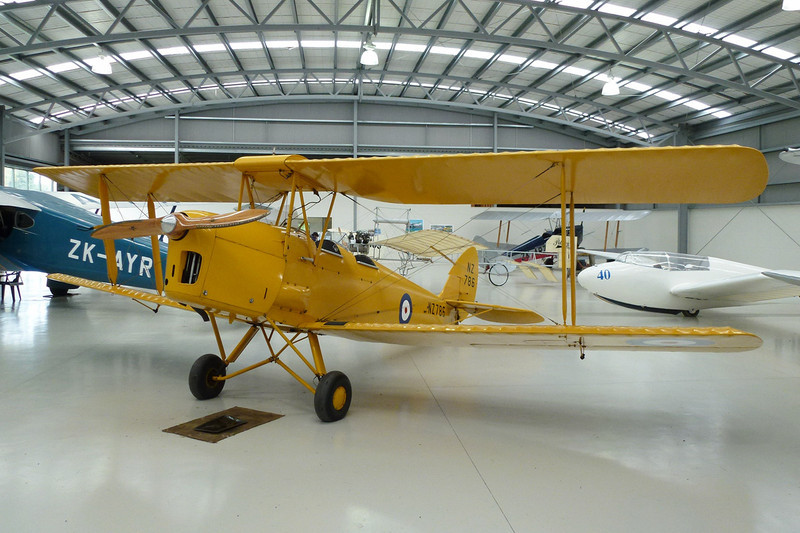 "ZK-ASV (NZ786) de Havilland DH-82A Tiger Moth ""Royal New Zealand Air Force"" c/n 83384 Mandeville/NZVL 22-03-12"