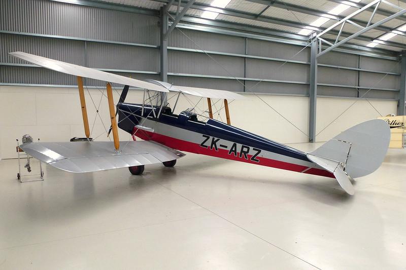 ZK-ARZ de Havilland DH-82A Tiger Moth c/n 82899 Mandeville/NZVL 22-03-12