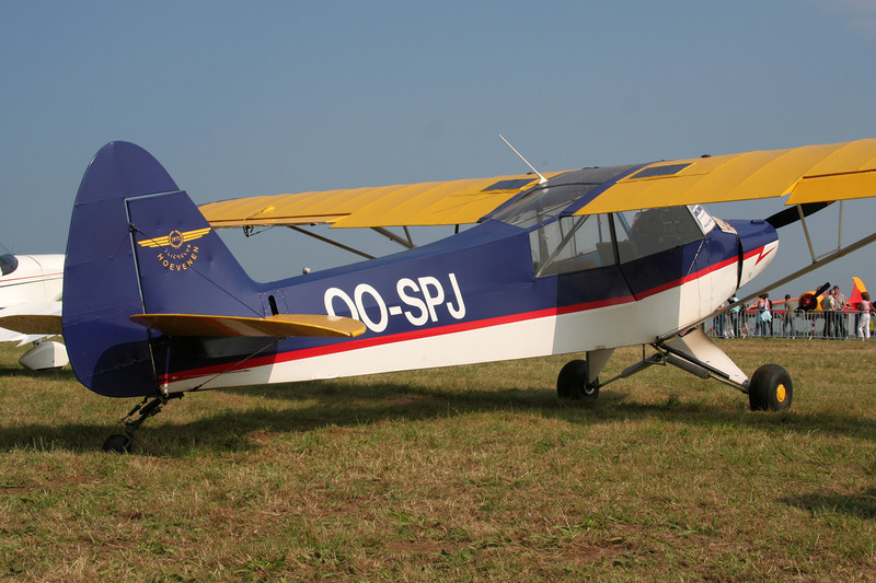 OO-SPJ Piper PA-18-95 Super Cub c/n 18-1547 Schaffen-Diest/EBDT 12-08-07