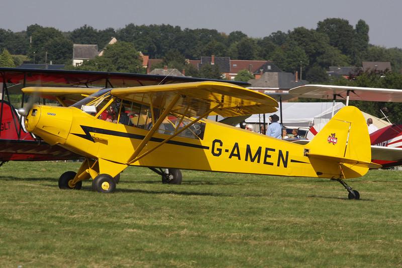 G-AMEN Piper L-18C-95 Super Cub c/n 18-1998 Schaffen-Diest/EBDT 11-08-12
