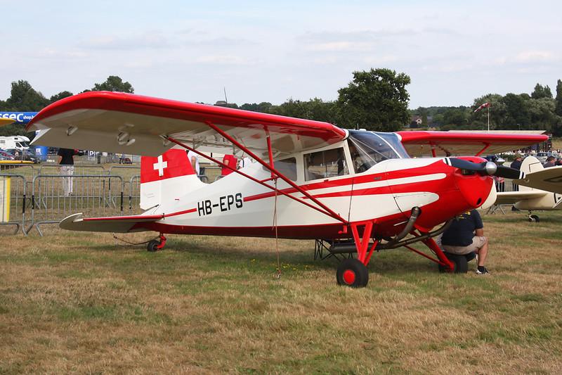 HB-EPS Skandinavisk Aero Industri KZ.VII U-4 Laerk c/n 188 Schaffen-Diest/EBDT 17-08-13