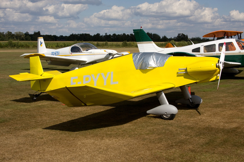 F-PYYL Jodel D.92 Bebe c/n 645 Hasselt-Kiewit/EBZH 29-08-09