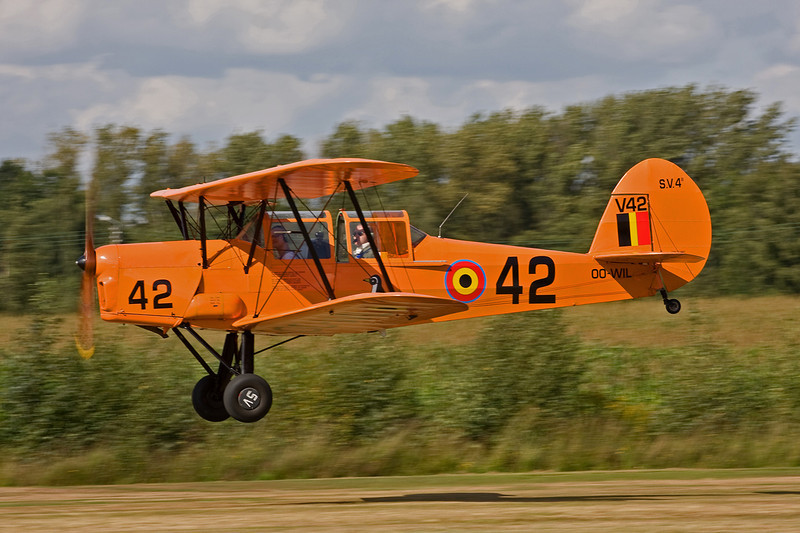 """OO-WIL (V42/42) Stampe & Vertongen SV.4B """"Belgian Air Force"""" c/n 1184 Hasselt-Kiewit/EBZH 29-08-09"""