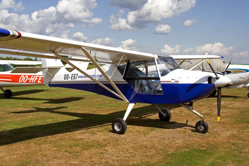 OO-E67 Aeropro Eurofox c/n 16204 Hasselt-Kiewit/EBZH 29-08-09