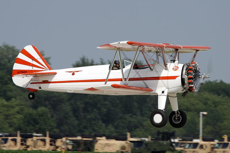N75016 Boeing Stearman Kaydet PT-17 c/n 75-3418 Oshkosh/KOSH/OSH 27-07-10