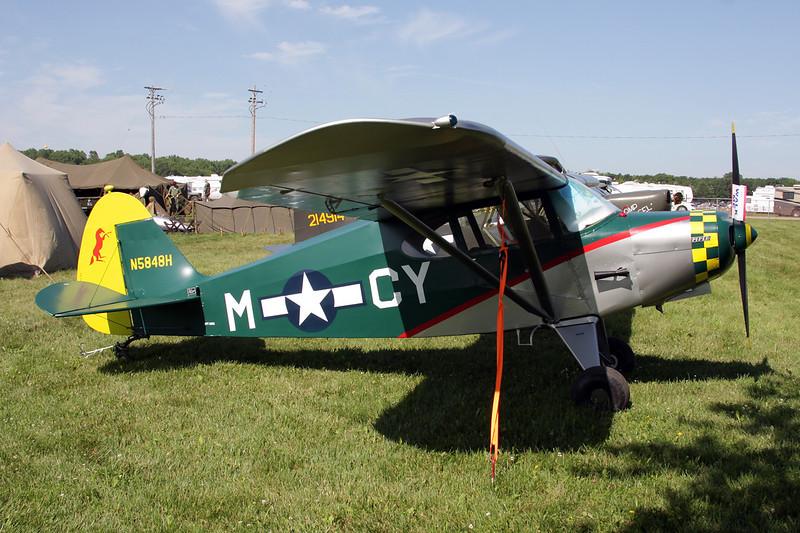 N5848H (CY-M) Piper PA-16 Clipper c/n 16-467 Oshkosh/KOSH/OSH 26-07-10