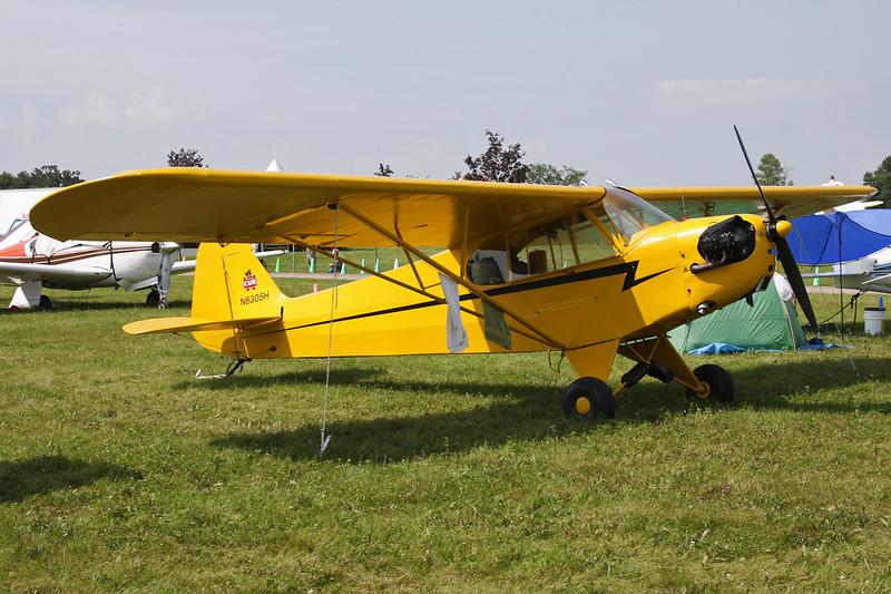 N6305H Piper J/3C-65 Cub c/n 19485 Oshkosh/KOSH/OSH 27-07-10