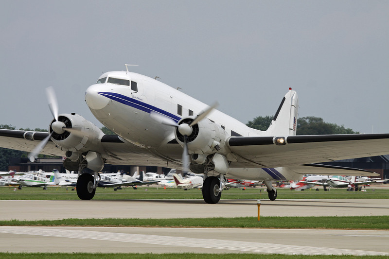 "N943DJ Douglas DC-3 C-53-DO ""JM Air"" c/n 7313 Oshkosh/KOSH/OSH 27-07-10"