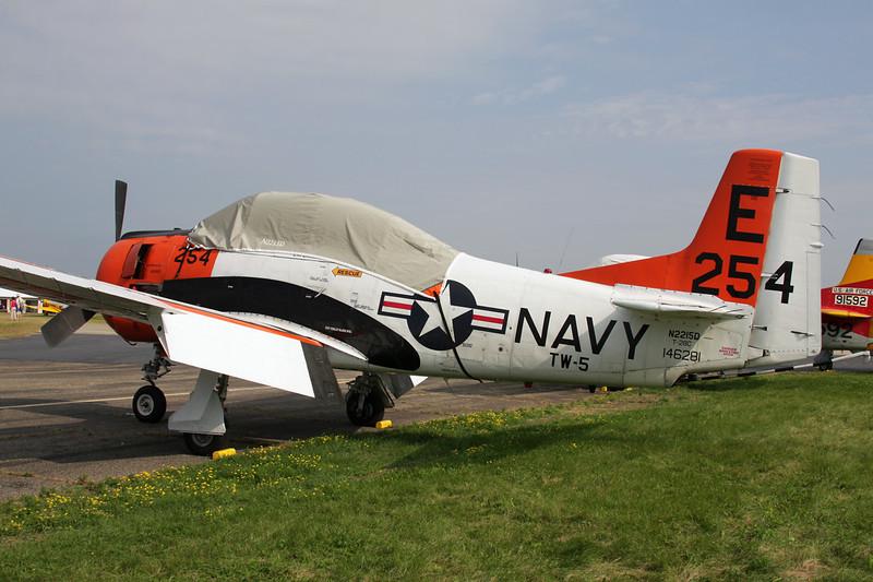 N2215D (146281/E-254) North American T-28C Trojan c/n 252-44 Oshkosh/KOSH/OSH 30-07-10