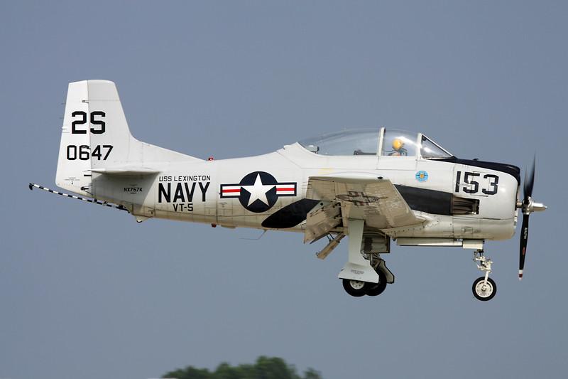N757K (NX757K/2S-153/140647) North American T-28C Trojan c/n 226-224 Oshosh/KOSH/OSH 27-07-10