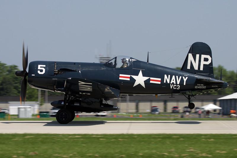N45NL (NX45PL/NP-5/124692) Vought F4U-5NL Corsair c/n Bu124692 Oshkosh/KOSH/OSH 29-07-10