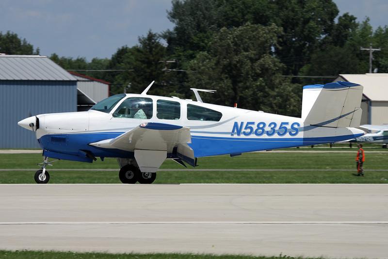 N5835S Beech S35 Bonanza c/n D-7734 Oshkosh/KOSH/OSH 28-07-10