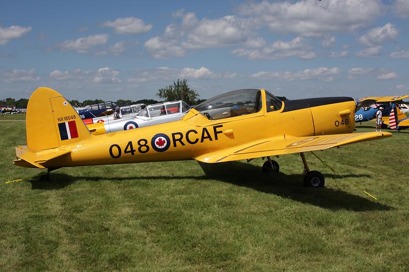 N18048 (NX18408/048) de Havilland Canada DHC-1 Chipmunk 1B-2-S5 c/n 186/224 Oshkosh/KOSH/OSH 28-07-10