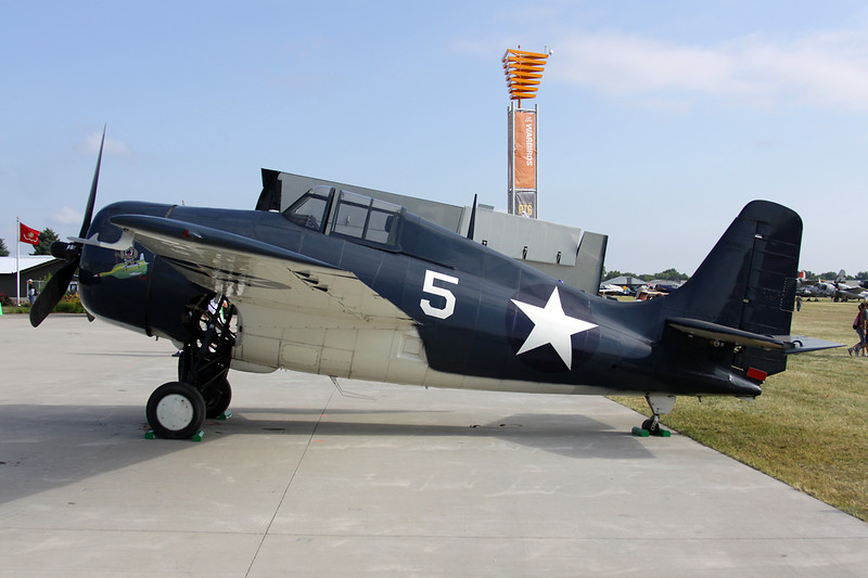N5HP (5) Grumman FM-2 Wildcat c/n 86777 Oshkosh/KOSH/OSH 02-08-13
