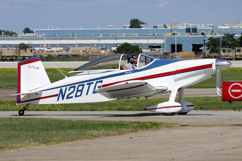 N28TG Thorp T.18 Tiger c/n 281 Oshkosh/KOSH/OSH 29-07-13