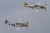 N51PE (413551/FT-K) North American P-51D Mustang c/n 124-48339 & N151HR (474524/YF-M) North American P-51D Mustang c/n 122-41064 Oshkosh/KOSH/OSH 30-07-13