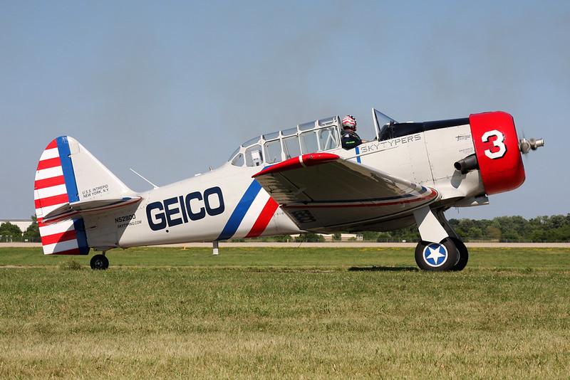 N52900 (3) North American SNJ-2 Texan c/n 65-1999 Oshkosh/KOSH/OSH 26-07-16