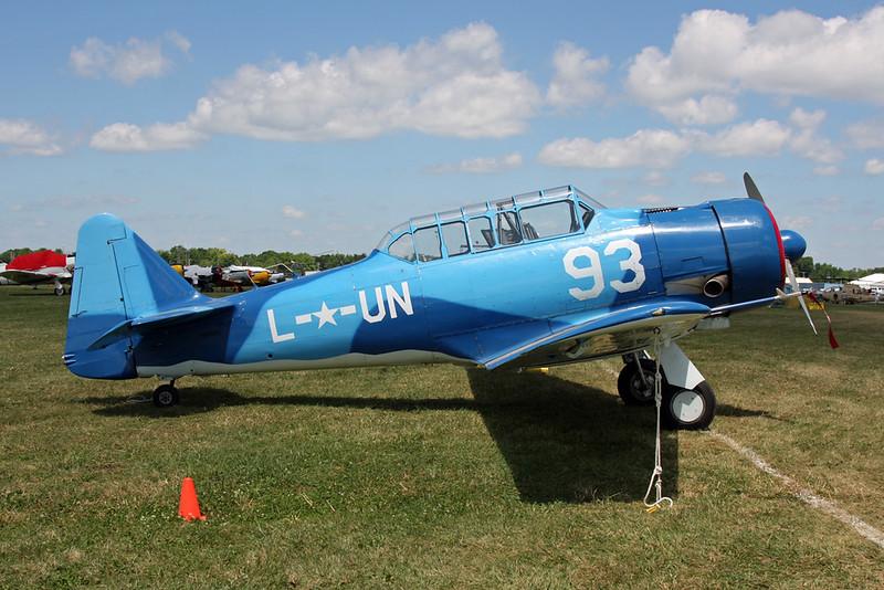 N85593 (93/UN-L) North American AT-6F Texan c/n 121-42415 Oshkosh/KOSH/OSH 25-07-16