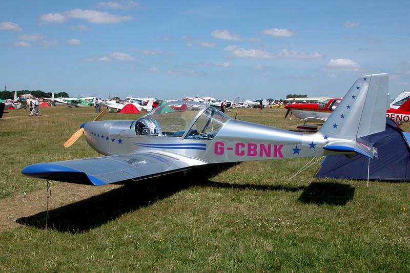 G-CBNK Evektor EV-97 Eurostar c/n 2001-1154 Kemble/EGBP 12-07-03